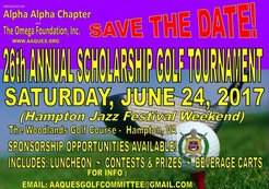 26th annual Scholarship Golf Tournament Presented by The Alpha Alpha Chapter of Omega Psi Phi Fraternity, Inc. & Omega Foundation, Inc.